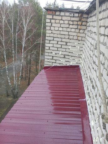 Монтаж кровли. Ремонт и утепление крыши козырьков балконов лоджий.