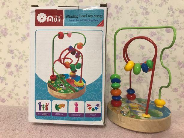 Новая игрушка пальчиковый лабиринт, деревянная