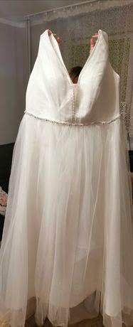 Nowa piekna suknia ślubna 48 plus size