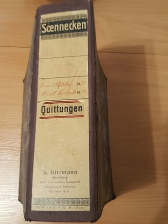 STARY niemiecki segregator, Soennecken, UNIKAT, ponad 100 lat