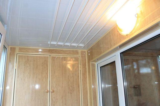 Обшивка балкона, установка окон
