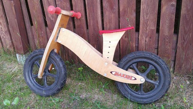 drewniany rowerek biegowy + kask Kellys