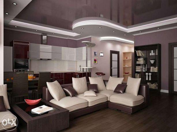 Дизайн-проект + ОТДЕЛКА интерьеров, квартир, домов, офисов, других ...