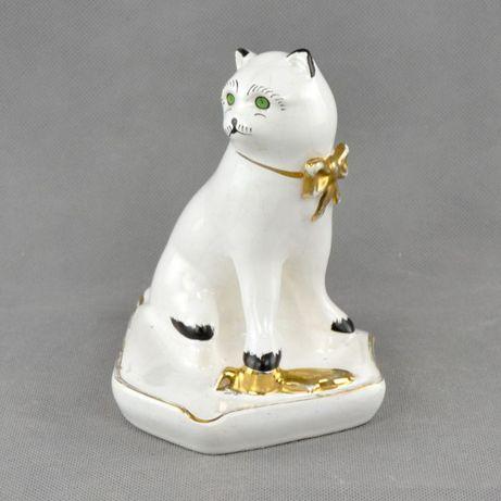 Cinzeiro em Faiança com forma de gato, Madalena Leiria