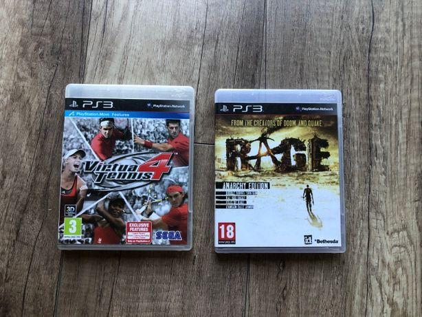 Rage   Virtua tenis 4   25 zł sztuka zestaw 40 zł   Playstation 3
