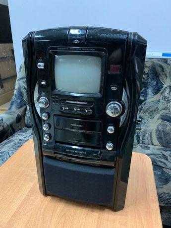 Wieża sprzęt karaoke MEDION MD 80238 cd aux tv kamera UNIKAT
