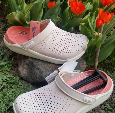 Кроксы женские Crocs LiteRide оригинал! Купить кроксы Сабо. Кросс Лайт