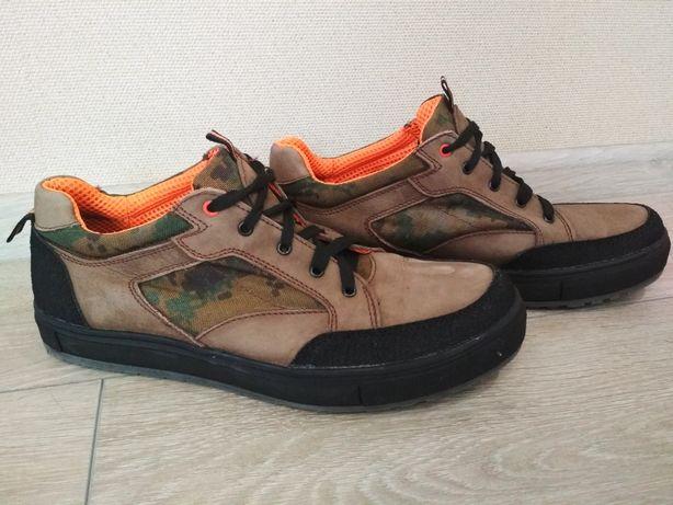Демисезонные ботинки, кеды натуральный нубук р.45 - 29 см. стелька