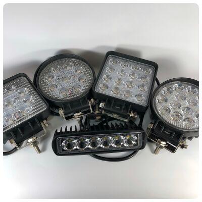 Светодиодные (LED) фары 9, 16 диодов; линованные, балки