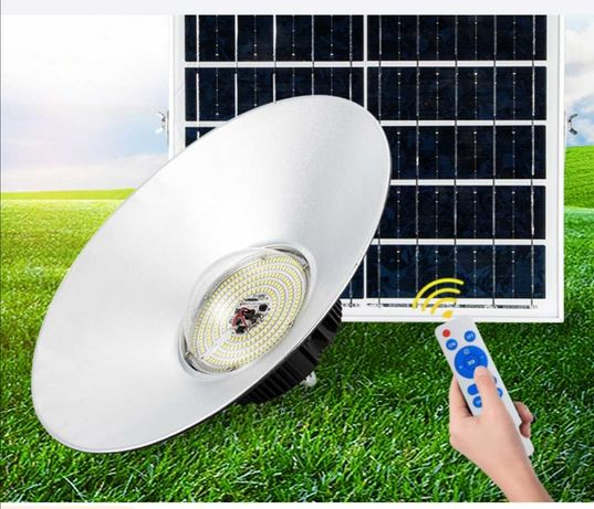 Campânula / Projector Solar 50w 296leds