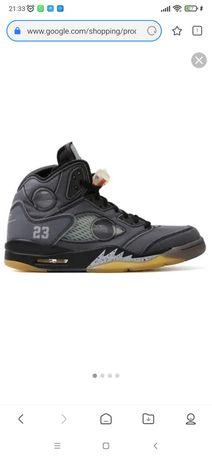 Jordan 5 Off-White Black
