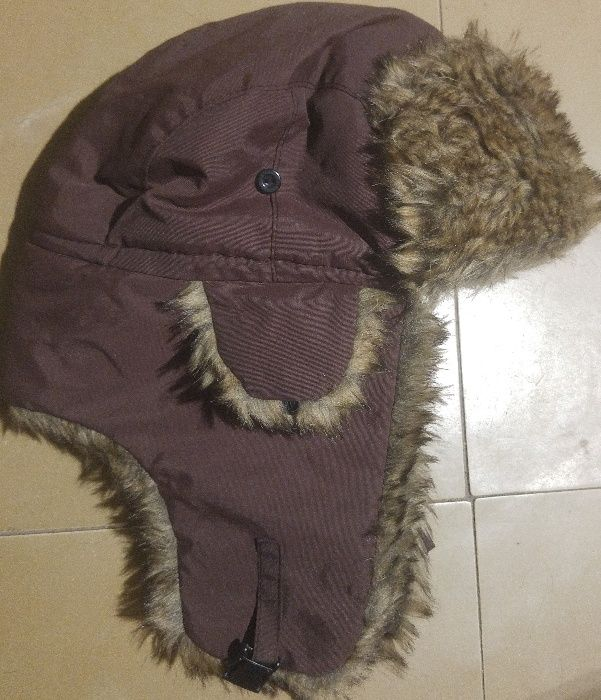 шапка ушанка зимняя S-M размер окр-сть 56см унисекс