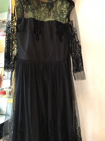 Вечернее чёрное платье, нарядное