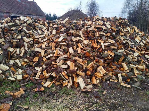 Drzewo, drewno suche opałowe rąbane, zrębki  workowane do wędzenia