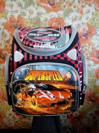 Школьный рюкзак GORANGD для мальчика (тачки)