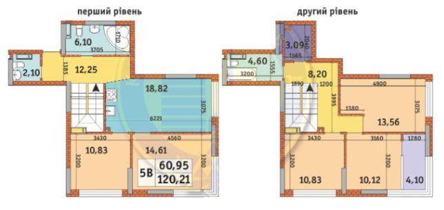 5-К квартира 120.21 м2. Урловский-1 КиевГорСтрой