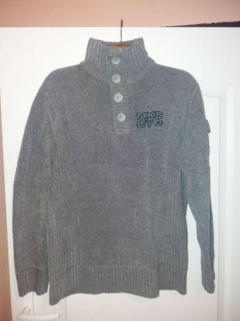 Sweter zimowy męski szary M