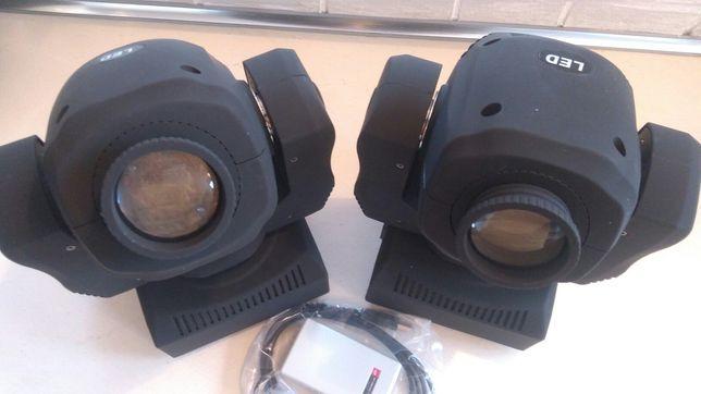 Głowy ruchome Fractal LED Gobo spot 60W+konwenter dmx+zestaw scen