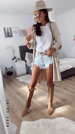Szorty jeansowe dzinsowe denim poszarpane Zara S