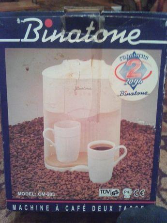 Кофеварка бытовая на две порции,новая.