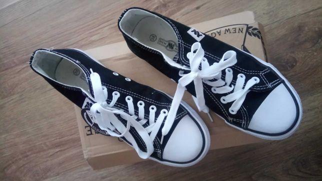 nowe buty czarne trampki tenisowki