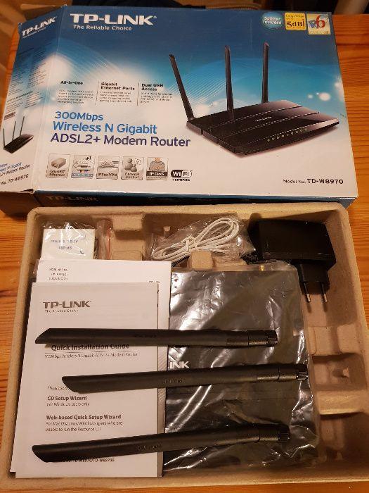 Router WiFi TP-LINK TD-W8970 USB 300Mbps Skierniewice - image 1