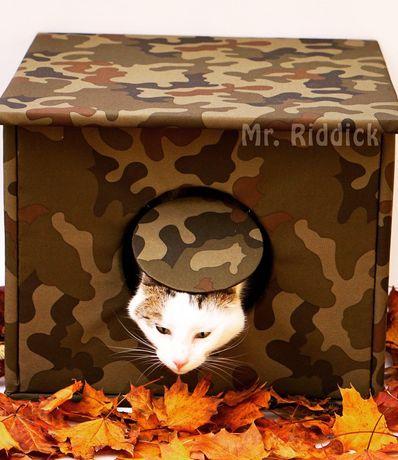 Domek budka buda dla kota na dwór wodoodporna ocieplana