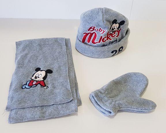 Conjunto Mickey gorro, luvas e cachecol
