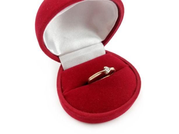 Złoty pierścionek z CYRKONIĄ 585 1,69G R16