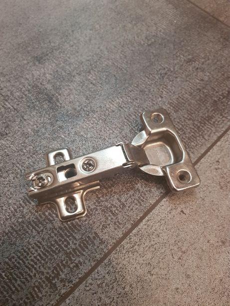 Zawias i prowadnik drzwi meblowe (blum i titanium) 17szt