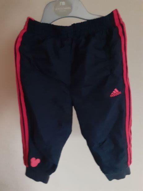 Spodnie dresowe Adidas dla dziewczynki Minnie Disney 3 paski 3 stripes