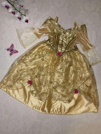 Карнавальный костюм платье карнавальное маскарадное принцессы Белль