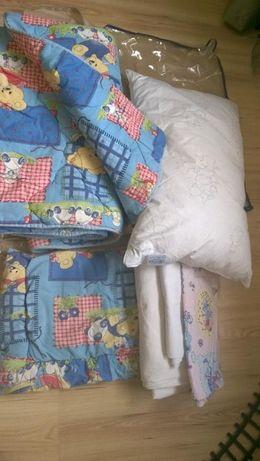 Постель одеяло+ подушка в кроватку, овчина,Ярослав