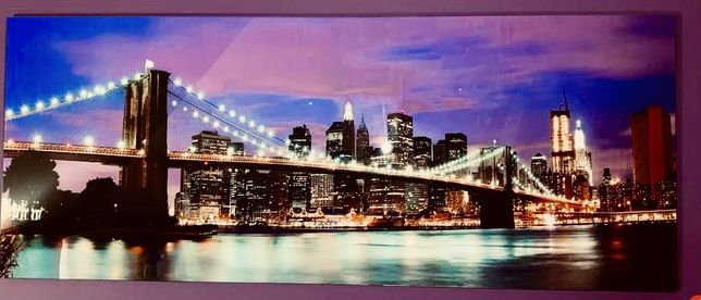 Obraz Glasspik Brooklyn Bridge 50x135 New York