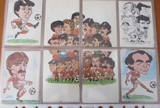 Calendários coleção, Futebol Caricaturas 1984