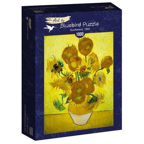 """Puzzle Bluebird 1000 Peças 60003 V. Van Gogh """"Sunflowers """" - NOVO"""