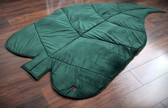 Mata Liść Velvet Zielony Bawenka