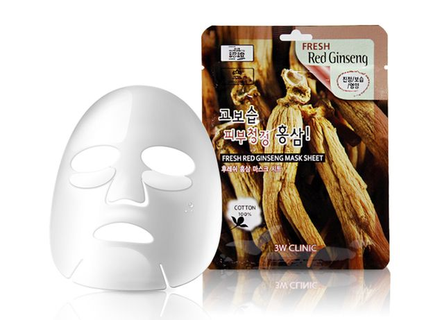 3W Clinic Fresh Red Ginseng Mask Sheet –с экстрактом красного женьшеня