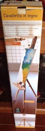 Cavalete de madeira para pintar quadros NOVO
