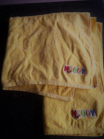 2 toalhas Noddy em excelente estado. Cor amarelo canário.