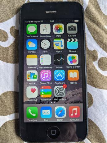 iPhone 5 A1428 рабочий не видит сим-карту айклауд чистый