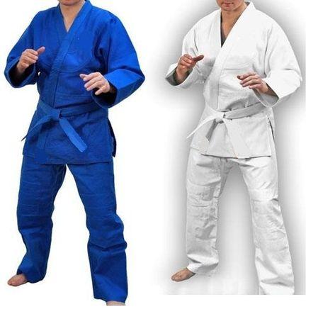 кимоно кімоно для дзюдо джиу джитсу айкидо біле синє Matsa Wolf кимано