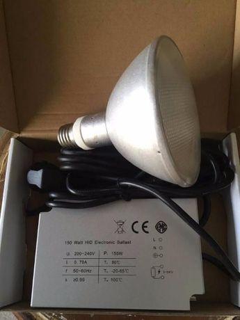Lâmpada HID para repteis (calor, luz, UVB e UVA) com balastro de 150W