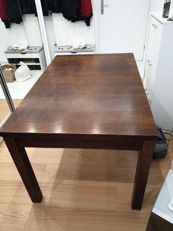 Solidny drewniany stół 140 - 178 x 90 x 79h
