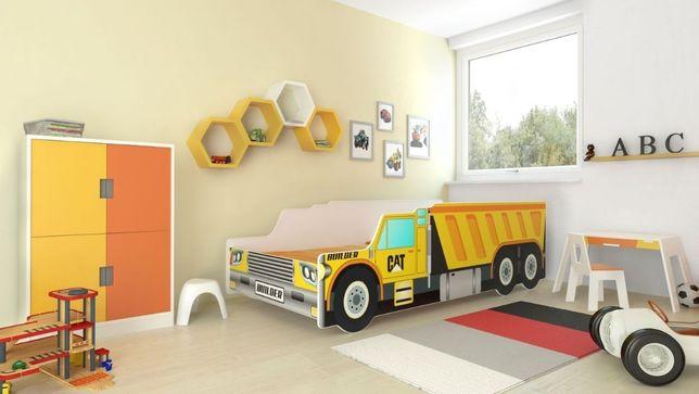 Łóżko RIKO auto samochód ciężarowy 160x80 z materacem Dostawa Gratis!