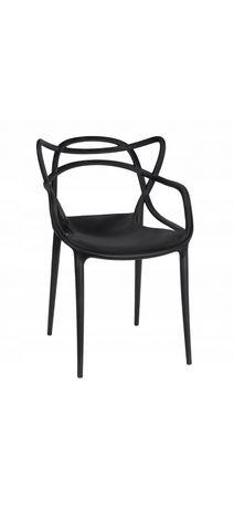 Krzesła ażurowe, szt.2, czarne