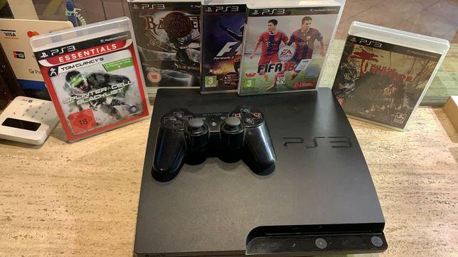 Sony PlayStation 3 Slim+Zwestaw 5 gier