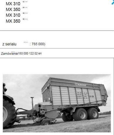 Instrukcja obsługi Przyczepa KRONE MX 310 GL- MX 350 GD