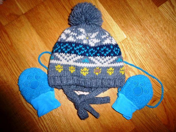 Ocieplana czapka Reserved 9-12 mc Reserved + rękawiczki