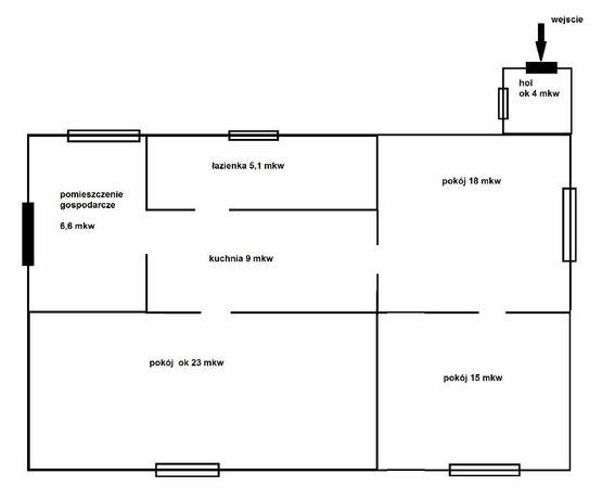 Mieszkanie 3 pokojowe w domu typu bliźniak